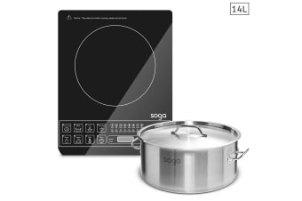 SOGA Electric Smart Induction Cooktop and 14L Stainless Steel Stockpot
