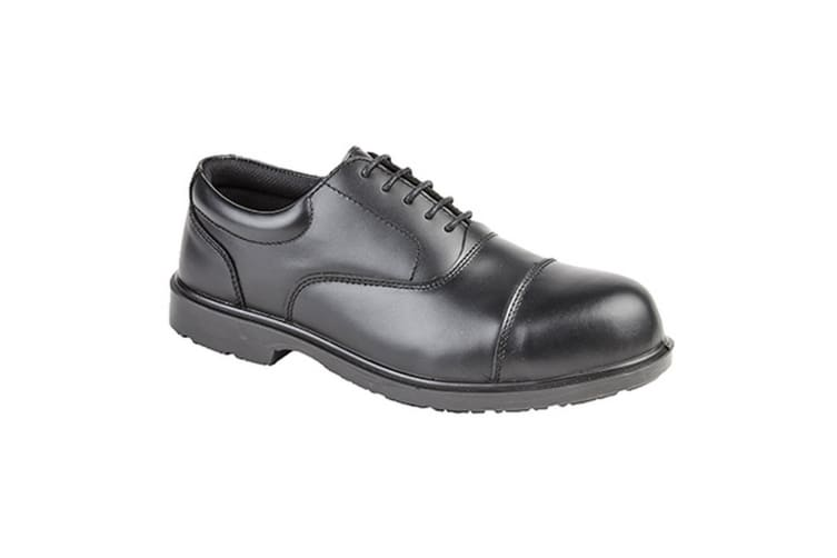 Grafters Mens Uniform Fully Composite Non-Metal Safety Oxford Shoes (Black) (8 UK)