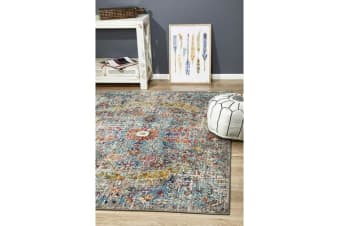 Hazel Multi Durable Vintage Look Rug