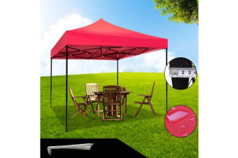 3x3m Outdoor Event Camping Pop Up Gazebo RED