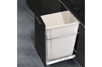 Devanti Kitchen Pull Out Bin 20L Single White Pantry Door Mount Rubbish Concealed Bins In Cabinet