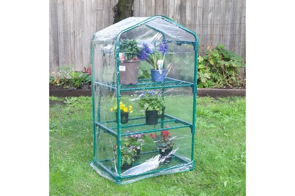 Garden Greenhouse 3-Tier Storage 70 x 49 x 126cm