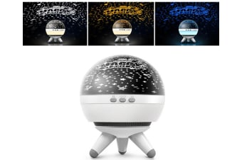 WJS Creative Rotatable Starry Sky Projection Lamp Romantic LED Rotating Ocean Projector Night Light-4
