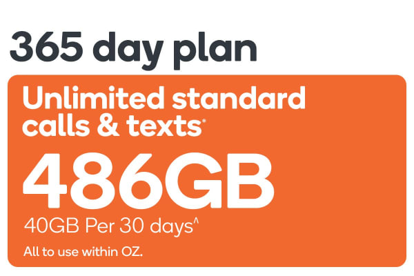 Kogan Mobile Prepaid Voucher Code: EXTRA LARGE (365 Days | 40GB Per 30 Days)