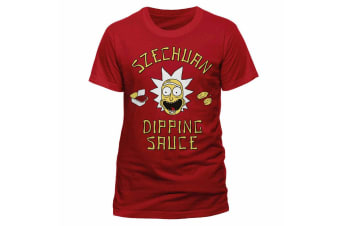 Rick And Morty Adults Unisex Adults Szechuan Sauce T-Shirt (Red)
