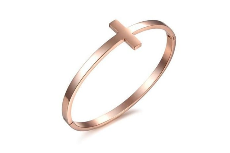 Bangle in Elegant Design - Rose Gold