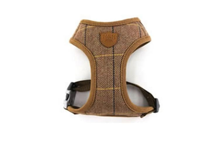 Hugo & Hudson Herringbone Harness (Caramel Checked) (L)