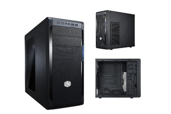 Coolermaster N300 ATX Case with 420W PSU. 2x USB3.0, Mesh Front Panel