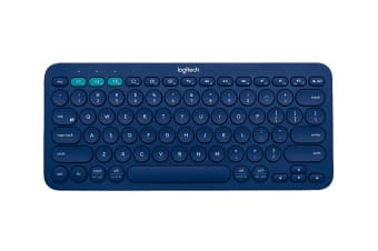 Logitech K380 Multi-Device Bluetooth Keyboard - Blue (920-007597)