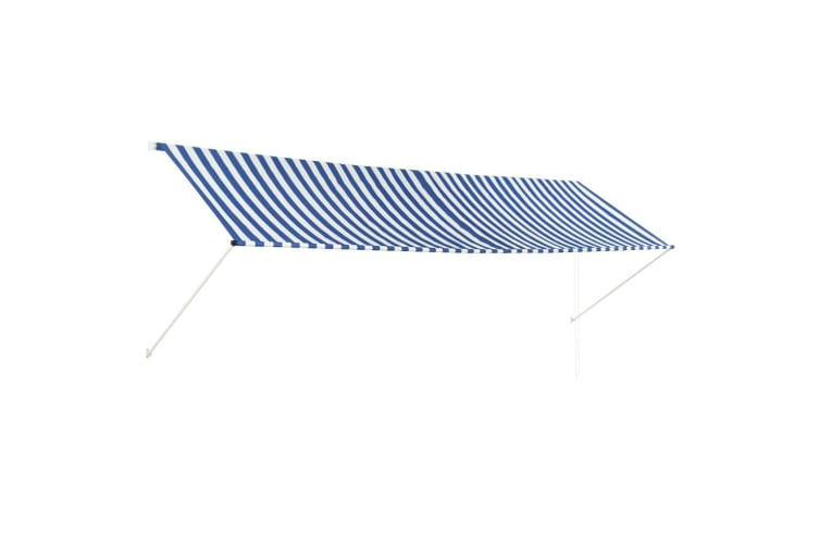 vidaXL Retractable Awning 400x150 cm Blue and White