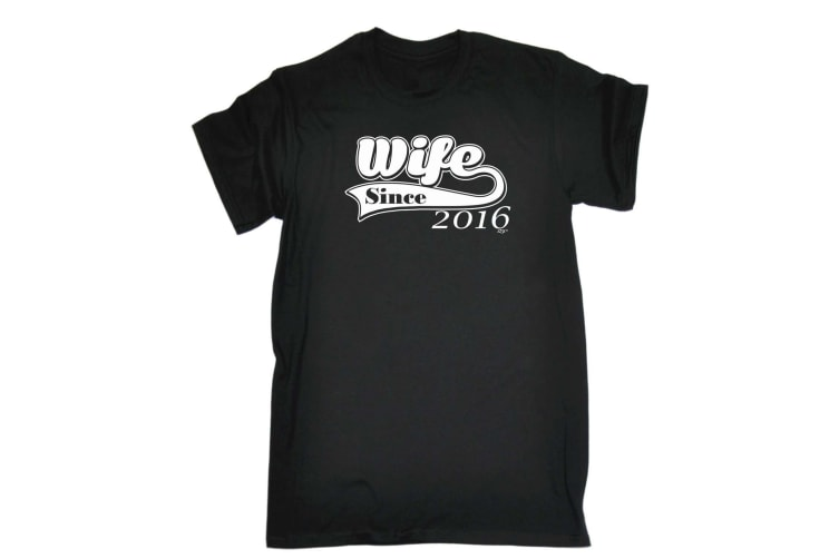 123T Funny Tee - Wife Since 216 - (5X-Large Black Mens T Shirt)