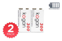 2 Pack Kogan Rechargeable 9V Batteries