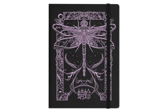 Grindstore Cryptic Dragonfly A5 Hard Cover Notebook (Black)