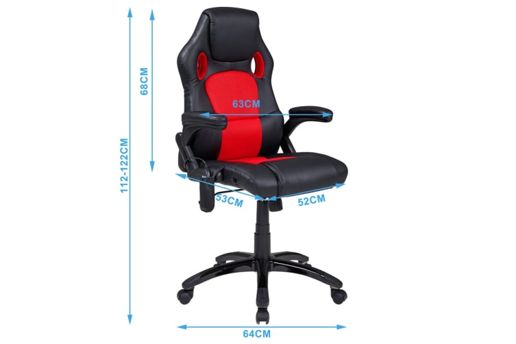 Ergolux RX8M Massage Gaming Office Chair (Red, Racing Series)