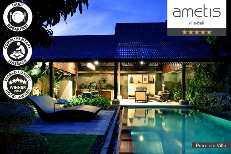 CANGGU: 3 Nights Stay at Ametis Villa Bali for Two (Premier Villa, Lux Upgrade)