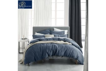 Versai Denim Quilt Cover Set Super King by Private Collection