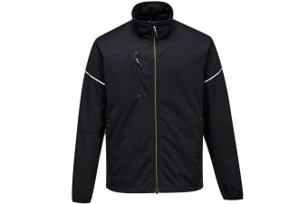 Portwest Mens PW3 Flex Shell Jacket (Black) (XXL)