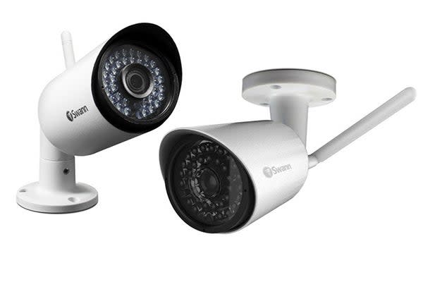 Swann 1080P Wi-Fi Bullet Camera with 4mm Wide Angle Lens - White (SWNVW-485CAM)