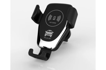 Select Mall 10W Qi USB Car Wireless Fast Charger Phone Holder Gravity Bracket Mount