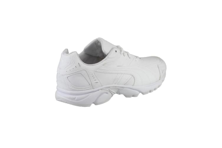 Puma Axis/Hahmer Mens Lace-Up Non-Marking Trainer / Mens Trainers / Mens Sports (White) (11 UK)