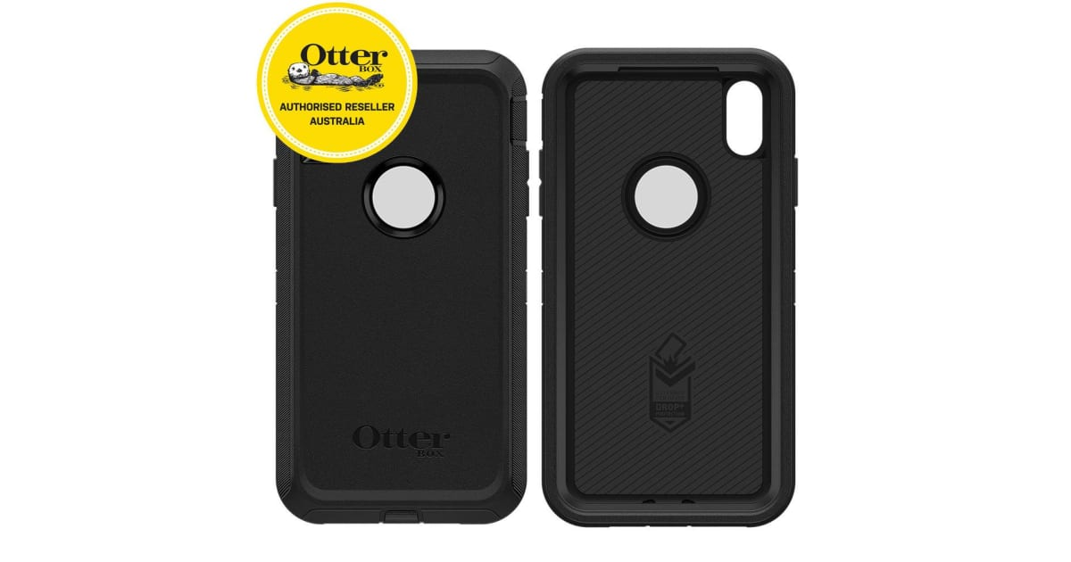 pretty nice 33d47 f07ae Otterbox Defender Case for iPhone Xs Max - Black | Handsets & Docks