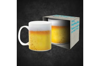 The Beer Mug: A Mug That Looks Like It`s Filled With BEER! | 330mls