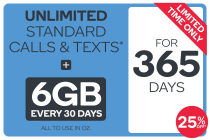Kogan Mobile Prepaid Voucher Code: MEDIUM (365 Days | 6GB Per 30 Days) - 25% Off