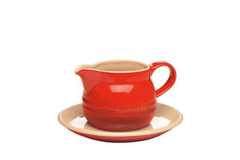 Chasseur La Cuisson Gravy Boat & Saucer 450ml Red