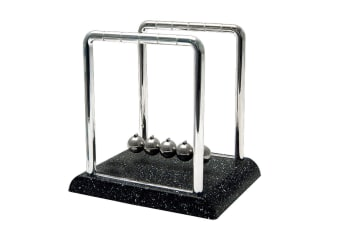 Small Newton's Cradle with Marble Base Science Motion Office Desk Toy Fun Decor