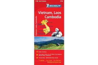 Vietnam Laos Cambodia - Michelin National Map 770 - Map