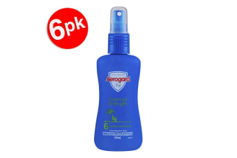 6x Aerogard 135ml Tropical Strength Insect Repellant Spray Pump 6Hour Protection