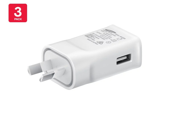 3 Pack Samsung USB Fast Charging Travel Adapter (9V)