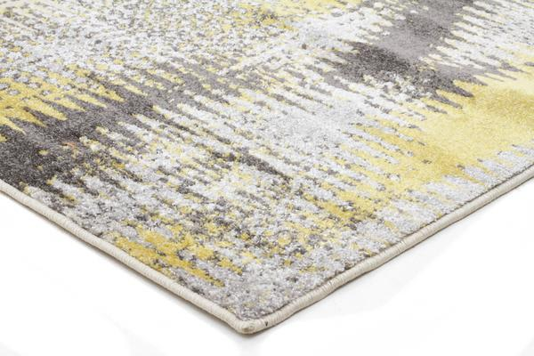 Hannah Matrix Rug Yellow Grey 230x160cm