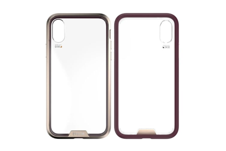 EFM Verona Case Armour Drop Proof Case Cover for Apple iPhone X/XS Mulberry Gold