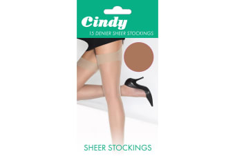 Cindy Womens/Ladies 15 Denier Sheer Stockings (1 Pair) (American Tan)