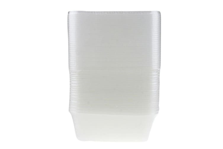 150 x 750ML RECTANGLE TAKEAWAY CONTAINERS w LIDS DISPOSABLE PLASTIC FOOD CONTAINER