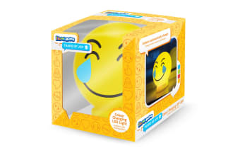 Illumi-Mates Official Childrens/Kids Emoji Colour Changing Bedside Lamp (Tears Of Joy) (One Size)