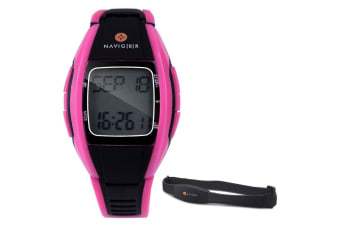 Laser Sports Watch Heart Rate Monitor - Pink
