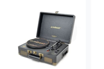 mBeat ® Uptown Retro Bluetooth Turntable &  Cassette Player
