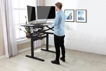 Ergolux Pro Height Adjustable Sit Stand Desk (Black)