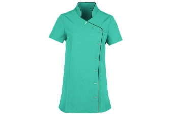 Premier Ladies/Womens *Lily* Tunic / Health Beauty & Spa / Workwear (Pack of 2) (Turquoise / Black) (12)