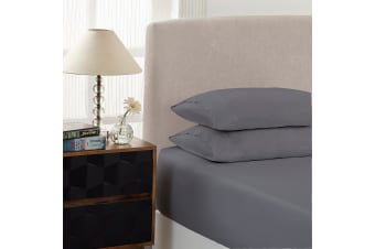 Royal Comfort Double 1500TC Markle Collection Cotton Blend Fitted Sheet Set - Grey