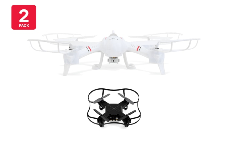 Drone Lovers Super Pack (1 x Kogan Ghost Drone + 1 x Kogan Nano Drone)