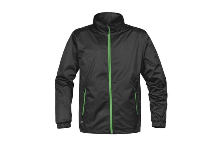 Stormtech Mens Axis Lightweight Shell Jacket (Waterproof And Breathable) (Black/Lime Green) (XL)