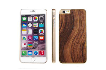 For iPhone 6S PLUS 6 PLUS Case  Wood Texture Metal Shielding Cover Brown