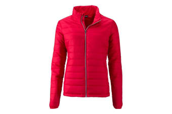 James and Nicholson Womens/Ladies Padded Jacket (Red) (S)