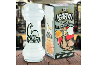 The Gym Dumbbell Glass – Beer Drinking Yard Glass Biceps Muscles Gym Bros