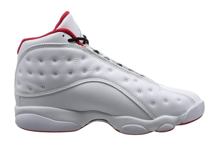 énorme réduction 79fe2 8d0fe Nike Men's Air Jordan 13 Retro History of Flight Shoe  (White/Silver/University Red, Size 9 US)