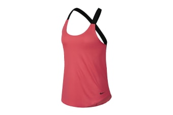 Nike Women's Dri-Fit Elastika Tanks (Pink/Black, Size XS)