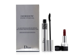 Christian Dior Diorshow Iconic Overcurl The Catwalk Spectacular Makeup Look Set (1x Mascara, 1x Mini Lipstick) 2pcs